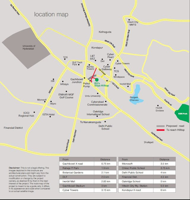 Silpa Hilltop Location Map